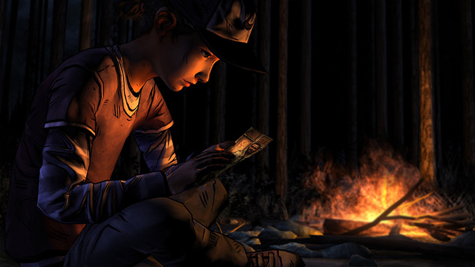 Clementine trying to make sense of past and present...  From http://www.telltalegames.com